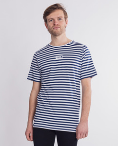 Herren T-Shirt gestreift | Boxtribe | blau-weiß - Degree Clothing