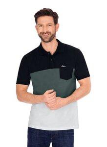 Poloshirt, dreifarbig, aus Biobaumwolle - Trigema