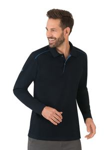Langarm Poloshirt aus Biobaumwolle - Trigema