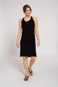 Trägerloses Jerseykleid schwarz - recolution