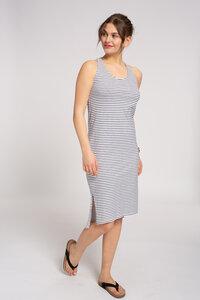 Ärmelloses Jerseykleid #STRIPES blau / weiß - recolution