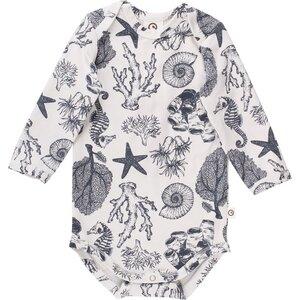 Seashell Body langarm mit Seepferdchen | GOTS zertifiziert | Müsli - Müsli by Green Cotton
