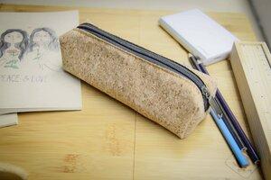 Federmappe Etui aus Kork, praktisches Etui, handgefertigt & vegan - BZ - BY COPALA