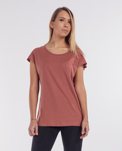 Damen T-Shirt Modal-Baumwolle - Nero - rot - Degree Clothing