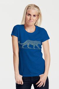 "Bio-Damen-T-Shirt ""Leopard"" - Peaces.bio - Neutral® - handbedruckt"