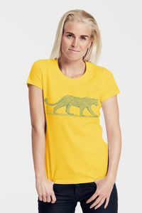 "Bio-Damen-T-Shirt ""Leopard"" - Peaces.bio - Neutral® - handbedruckt"