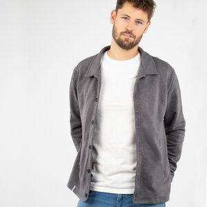 """Sweatjacket Herren - Biobaumwolle + rec. Polyester """"Botao"""" schwarz/grau - Vresh"""