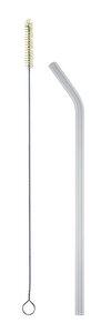 Set: strawbrush Reinigungsbürste + soulstraw gebogen - soulbottles