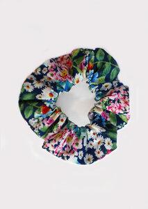 Scrunchie - Haargummi aus Popeline mit Blumenprint - börd shört