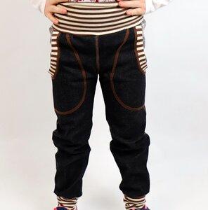 Kinder-/Baby-Mitwachs-Jeans schwarz mit Taschen  - Omilich