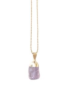 Amethyst Halskette vergoldet - Crystal and Sage