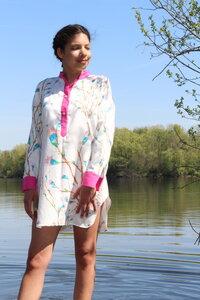 Tunika Hanami - Lange Bluse aus Bio-Baumwolle - Sophia Schneider-Esleben