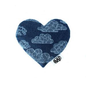 night clouds (Bio-Baumwolle Flanell) Duftherz/ Duftsäckchen - Burst