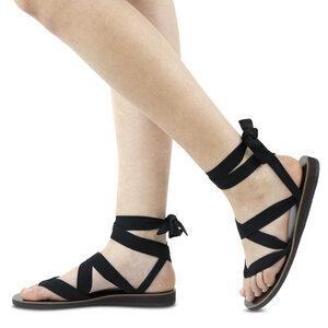 Sandalen zum Binden aus Leder - Kinfolkz