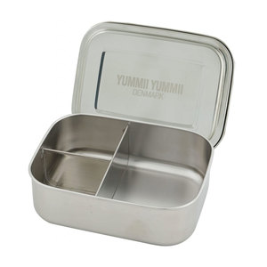 Lunchbox Bento Medium+ mit 3 Fächern aus Edelstahl 1,1 Liter - Yummii Yummii
