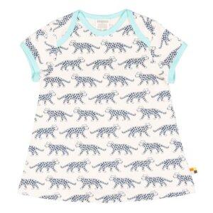 Jerseykleid Gepard ultramarin hellblau GOTS - loud + proud