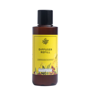 Raumduft Diffuser Refillpack Zitronengras und Zedernholz 150ml - The Handmade Soap Company