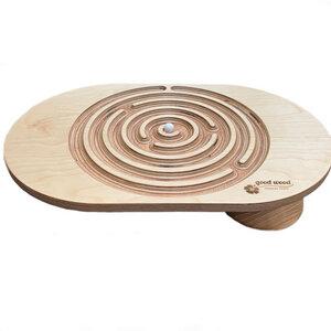 Balanceboard Labyrinth. Koordinations-und Gleichgewichtstrainer. Handgemacht. Eschenholz - Good Wood Sports