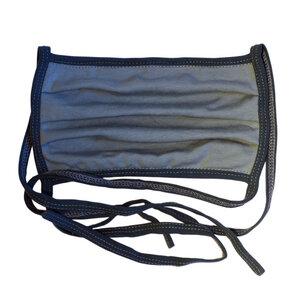 Wiederverwendbarer Behelfs-Mundschutz Graublau/Rauchblau - bingabonga®