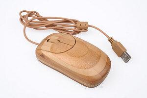 USB Maus aus Bambus Holz (kabelgebunden) - BambooTech