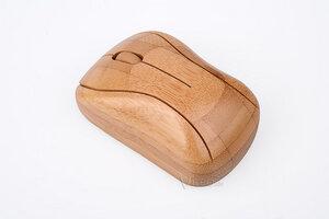 Wireless Maus aus Bambus Holz - BambooTech