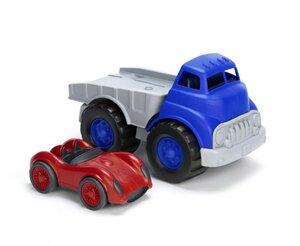 Autotransporter und Rennwagen -Set - Truck mit Racer - Green Toys