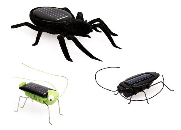Solar Spielzeug Set Insekten