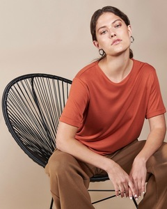 T-Shirt BOY aus Lyocell rost - JAN N JUNE