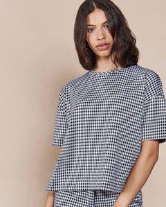 T-Shirt CHESTER Pepita schwarz/weiß - JAN N JUNE