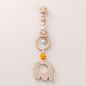 Rasselclip mit Glocke Elefant - NoniKids Berlin