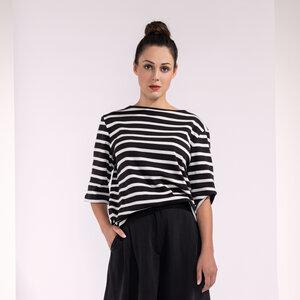 Langarmshirt, leichter Pullover mit Streifen Bio-Baumwolle GOTS - SinWeaver alternative fashion