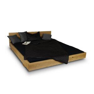 Massivholzbett Wildeiche Massivholz Balkenbett Eiche Doppelbett Bett  - GreenHaus