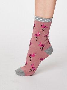 Rosa Flamingo Bambus Socken - Thought