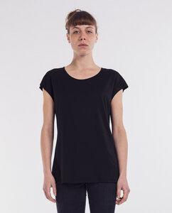 Damen T-Shirt Modal-Baumwolle | Nero | schwarz - Degree Clothing