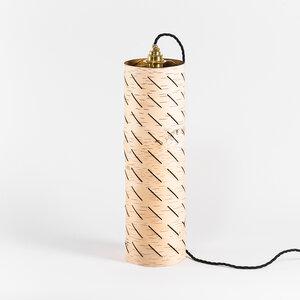 Nachttischlampe / kleine Stehlampe / Leuchte aus Birkenrinde Ø15cm - MOYA Birch Bark