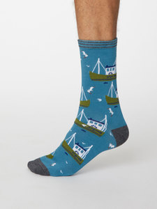 Pesca Bambus Socken - Thought