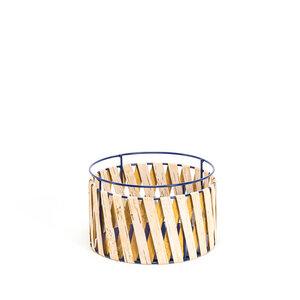 Aufbewahrungskorb aus Birkenrinde mit Metallrahmen / Medium ø25x16cm - MOYA Birch Bark