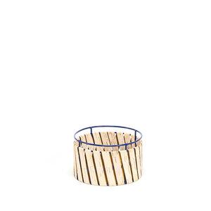 Aufbewahrungskorb aus Birkenrinde mit Metallrahmen / Klein ø20x12cm - MOYA Birch Bark