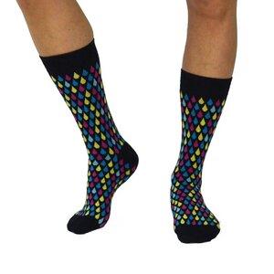 Socken mit eingestricktem Muster - organic socks of sweden