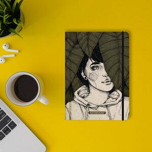 """Nachhaltiges Notizbuch A5 - Nari """"Leaves"""" - Matabooks"""