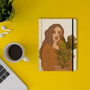 """Nachhaltiges Notizbuch A5 - Nari """"Plant Friends"""" - Matabooks"""
