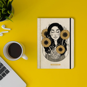 Nachhaltiges Notizbuch A5 - Nari 'Sunflower' - Matabooks