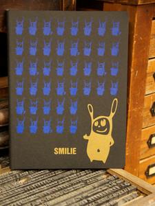 'Smilie' NOTIZHEFT DIN A4  - shop handgedruckt