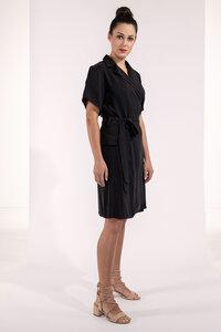 Blazerkleid ausgestellt kurzarm schwarz oder weiß Tencel - SinWeaver alternative fashion