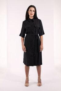 knielanges Wickelkleid, Blazerkleid mit Taschen - SinWeaver alternative fashion