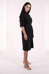 Blazerkleid knielang mit Knöpfen und Taschen weiß Tencel - SinWeaver alternative fashion