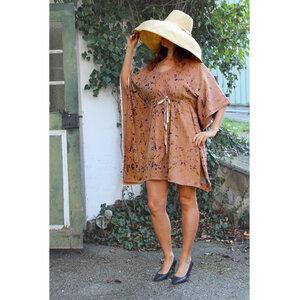 Naturdruck - Einheitsgröße - verstellbares Kleid, Bio-Pima Baumwolle - B.e Quality