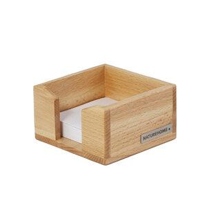 Zettelkasten Zettelbox 11,5 x 11,5 cm Holz natur geölt Serie ECO für Zettel 9x9 cm - NATUREHOME