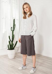 Culotte, Kurze Hose Leinen dunkelblau weit - SinWeaver alternative fashion