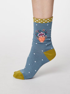 Flora Bambus Socken - Thought